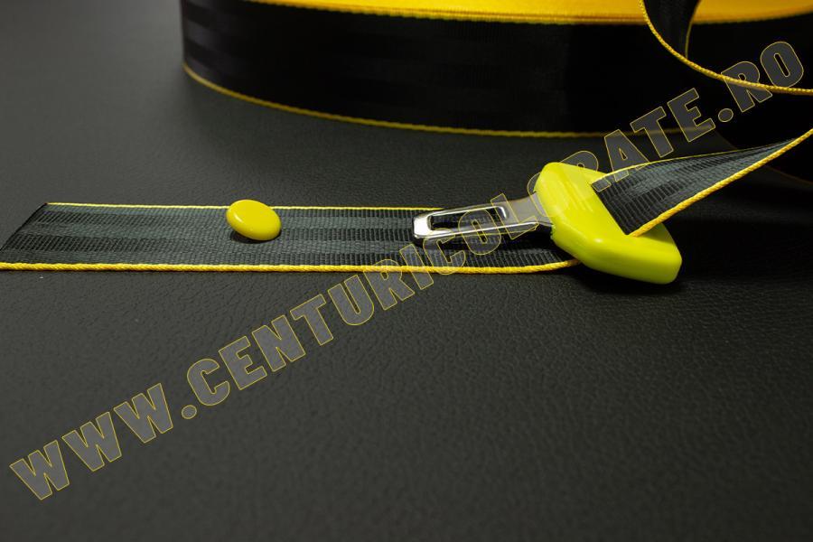 Centura siguranta negru galben Bmw M3